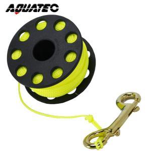 ダイブリール AQUATEC / アクアテック ステンレス ダイブリール YL line/20m[806760110000]|aqrosnetshop