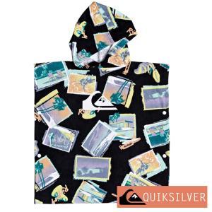 QUIKSILVER クイックシルバー お着替えポンチョ キッズ タオルポンチョ 子供 バスタオル KIDS HOODY TOWEL EQKAA03019|aqrosnetshop