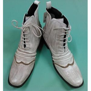 新品 10's メンズショートブーツ ホワイト 27.0cm aqua-feel