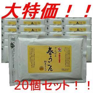 送料無料 春うこん粉末 100g 20個 業務価格 沖縄やんばる産 沖縄ウコン堂 セール 健康|aqua-green