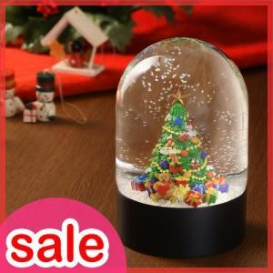 ドームの中の小さな世界にキラキラと雪が舞う美しいクリスマスオブジェ。  【沖縄・離島へのお届けに1週...