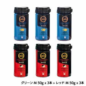 ひかりプレミアム メガバイト 【グリーンM  50g×3本 + レッドM  50g×3本】|aqua-legend