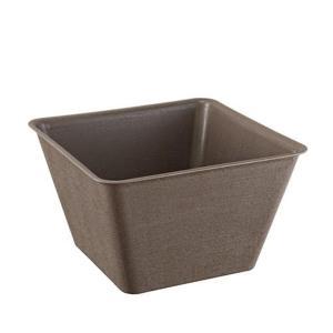 スドー メダカの角小鉢 ひわだ|aqua-legend