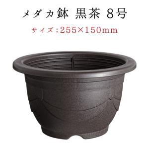 スドー メダカ鉢 黒茶 8号|aqua-legend