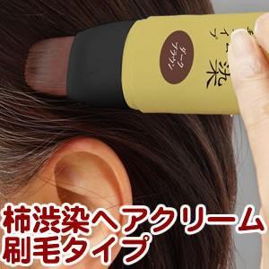 サッとひと塗りポイント白髪ケア 柿渋染ヘアクリーム刷毛タイプ ブラック|aqua-life|03