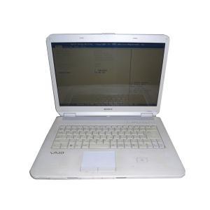 難あり SONY VAIO PCG-7161N (VGN-NS52JB-W) OSなし 中古ノートパソコン Core2Duo-P8600 2.4GHz/4GB/320GB/DVDマルチ|aqua-light