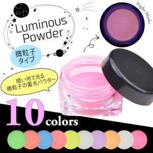 粉末 蓄光パウダー 夜行 蛍光 選べる10色 蓄光サンド グローネイル ジェルネイル デコ レジンクラフト|aqua-nail