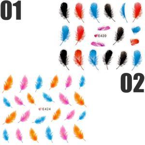 ネイルシール フェザー 羽 選べる6種類|aqua-nail