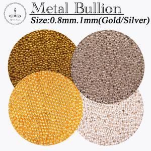 ブリオン ゴールド・シルバー 0.8mm/1mm約3g入り ネイル デコ レジンクラフト|aqua-nail