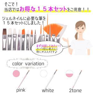 ジェルネイル ブラシ・筆 選べる3色15本セット デコ|aqua-nail|03
