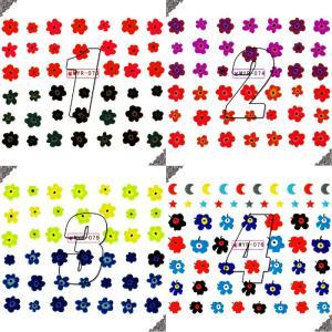 ウォーターネイルシール フラワー 花 選べる6種類 極薄・重ね貼りOK|aqua-nail