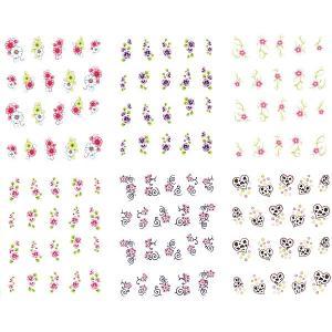 ネイル 極薄・重ね貼りOK リアルフォトウォーターネイルシール 花柄11種set-1|aqua-nail