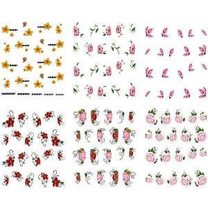 ネイル 極薄・重ね貼りOK リアルフォトウォーターネイルシール 花柄11種set-2|aqua-nail