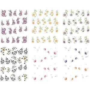 ネイル 極薄・重ね貼りOK リアルフォトウォーターネイルシール 花柄11種set-3|aqua-nail