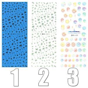 ウォーターネイルシール 夏 サマー ヤシの木 花火 ヒトデ シェル 貝 選べる5種類 極薄・重ね貼りOK|aqua-nail