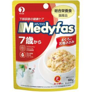 メディファス ウェット 7歳から 下部尿路の健康ケア まぐろと若鶏ささみ 60g|aquabase