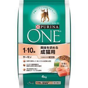 ピュリナワン キャット 成猫用 サーモン 4kg 【特売】|aquabase