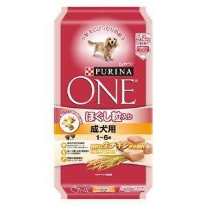 ピュリナワン ドッグ ほぐし粒入り 1〜6歳 成犬用 チキン 4.2kg|aquabase