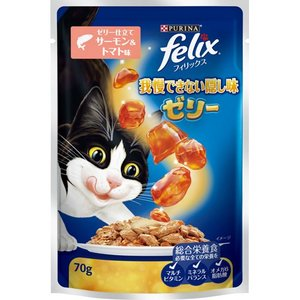 フィリックス 我慢できない隠し味ゼリー ゼリー仕立て サーモン&トマト味 70g|aquabase