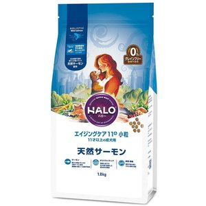 HALO ハロー エイジングケア11+ 小粒 天然サーモン 11才以上の 成犬用 1.8kg|aquabase