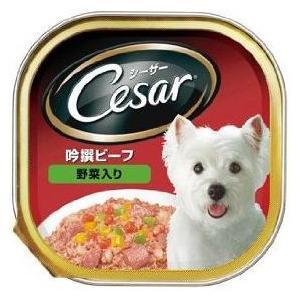 シーザー 吟撰ビーフ 野菜入り 100g|aquabase