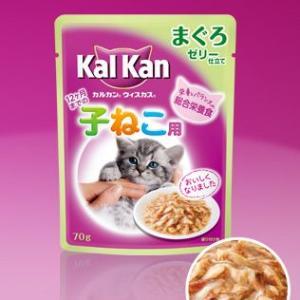 カルカン ウィスカス ゼリー仕立て 子猫用 まぐろ 70g 【特売】|aquabase