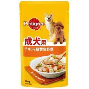 ぺディグリー パウチ 成犬用 チキン&緑黄色野菜 130g 【特売】|aquabase