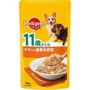 ぺディグリー パウチ 11歳から用 チキン&緑黄色野菜 130g 【特売】|aquabase