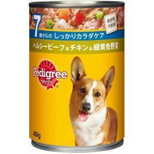 ペディグリー 缶 7歳から ヘルシービーフ&チキン&緑黄色野菜 400g 【特売】|aquabase
