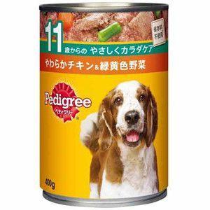 ペディグリー 缶 11歳からの やわらかチキン&緑黄色野菜 400g 【特売】|aquabase