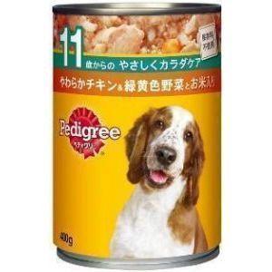 ペディグリー 缶 11歳から やわらかチキン&緑黄色野菜とお米入り 400g 【特売】|aquabase