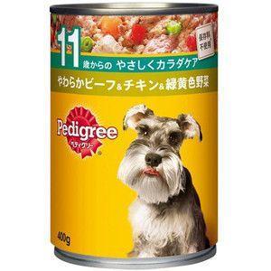 ペディグリー 缶 11歳から ビーフ&チキン&野菜 高齢犬用 400g 【特売】|aquabase