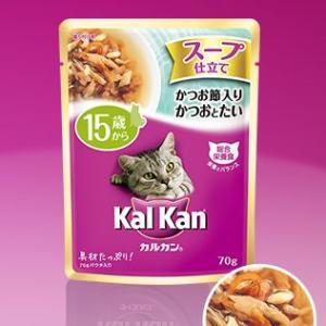 カルカン ウィスカス スープ仕立て 15歳から かつお節入り しらすとたい 70g 【特売】|aquabase
