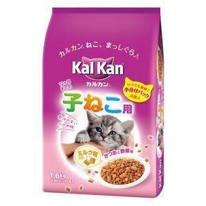 カルカン ドライ 12か月までの子ねこ用 かつおと野菜味 ミルク粒入り 1.6kg 【特売】|aquabase
