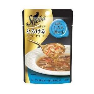 シーバ アミューズ とろけるシーフードスープ お魚、しらす、蟹かま 40g 【特売】|aquabase