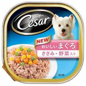 シーザー おいしいまぐろ ささみ・野菜入り 100g 【特売】|aquabase