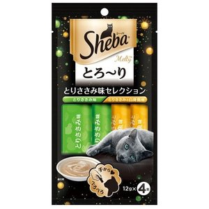 シーバ とろーりメルティ とりささみ味セレクション 12g×4本|aquabase