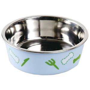 ドギーマン ステンレス食器 ごはんにゃわん 犬用 ミニ ブルー aquabase