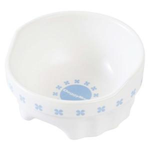 すべり止め付きのペット用食器/陶器と磁器のよさをあわせ持った「半磁器」を使用。陶器に比べて水洗いに強...