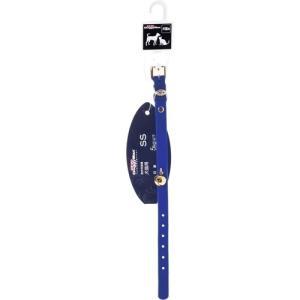 ドギーマン ベルベット首輪 S 犬猫用 ブルー|aquabase