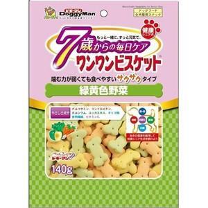 ドギーマン 健康シニア犬 7歳からの毎日ケア ワンワンビスケット 緑黄色野菜 140g|aquabase