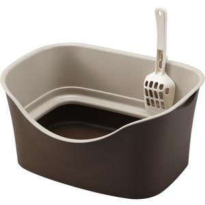 ボンビ ラクラク猫トイレ ダブルブロック ブラウン|aquabase