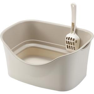 ボンビ ラクラク猫トイレ ダブルブロック アイボリー|aquabase
