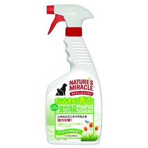 ネイチャーズミラクル ふんわり香る 強力消臭クリーナー 花であふれる草原の香り 945ml|aquabase