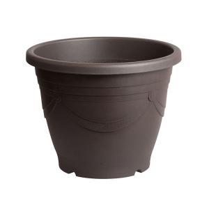 スドー メダカの深鉢 黒茶 13号 【特殊梱包】 aquabase