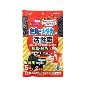 GEX 金魚・メダカの活性炭 スリムサイズ 5+2袋入|aquabase