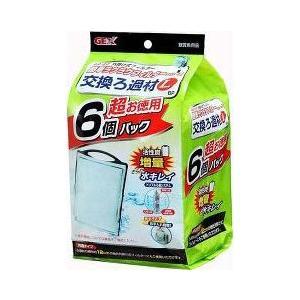 GEX 簡単ラクラクフィルター 交換ろ過材 L 6個入|aquabase