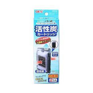 GEX コーナーパワーフィルター用 活性炭カートリッジ お徳用 2コ入|aquabase