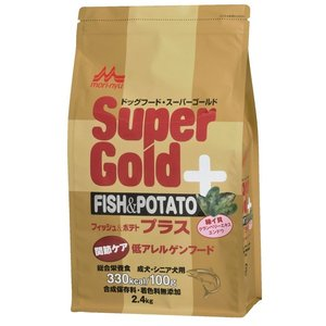 スーパーゴールド フィッシュ&ポテト プラス 関節ケア用 低アレルゲンフード 2.4kg 【特売】|aquabase