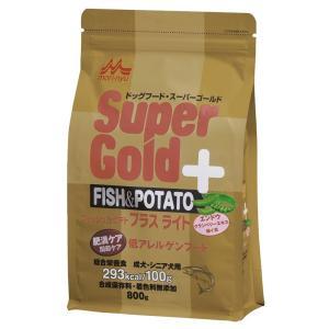スーパーゴールド フィッシュ&ポテト プラス ライト 肥満ケア用・関節ケア用 低アレルゲンフード 800g 【特売】|aquabase